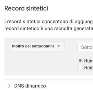 Configuriamo un dominio dinamico con Google domains
